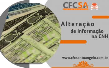 Alteração de Informação na CNH